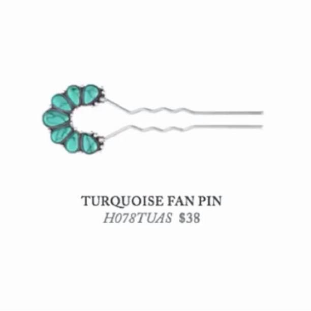 TURQUOISE FAN PIN