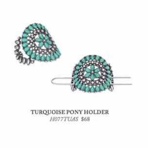 TURQUOISE PONY HOLDER